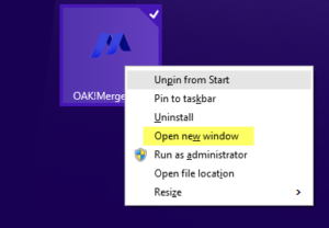 How to Run additional instances of OAKMerge