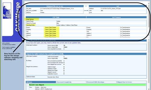 OAKMerge v20 1 1 -new merge options panel