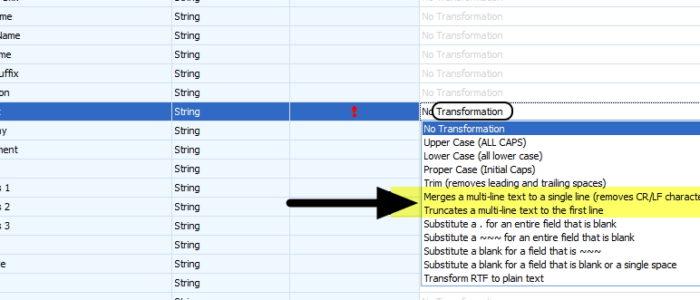 OAKMerge Remove Multiple lines Transformation